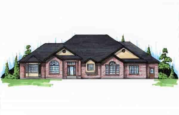 European House Plan 79862 with 5 Beds, 4 Baths, 3 Car Garage Elevation