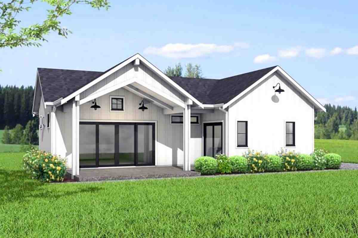 Farmhouse House Plan 80502 with 2 Beds, 1 Baths Elevation