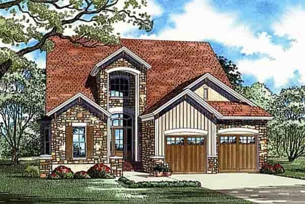 Craftsman House Plan 82148 with 2 Beds, 3 Baths, 2 Car Garage Elevation