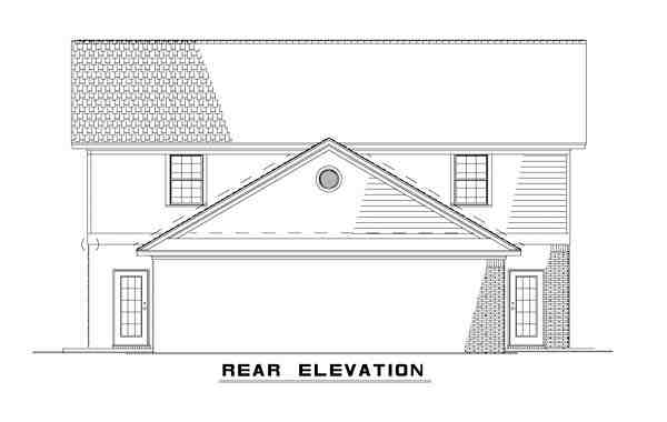 Colonial, Traditional Multi-Family Plan 82363 with 6 Beds, 6 Baths Rear Elevation