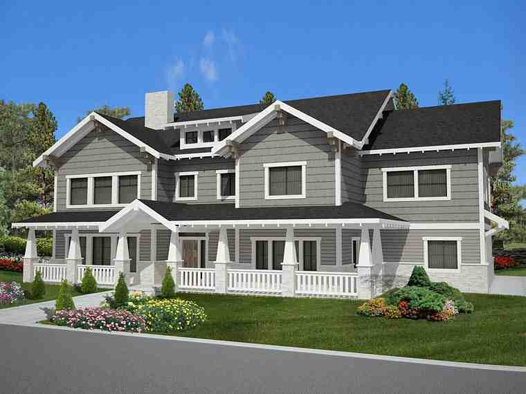 Bungalow, Country, Craftsman, Traditional House Plan 85238 with 6 Beds, 5 Baths, 3 Car Garage Elevation