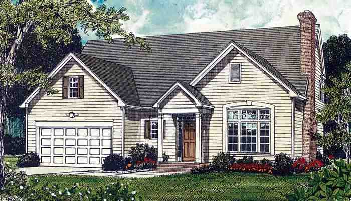 Traditional House Plan 85661 with 3 Beds, 3 Baths, 2 Car Garage Elevation