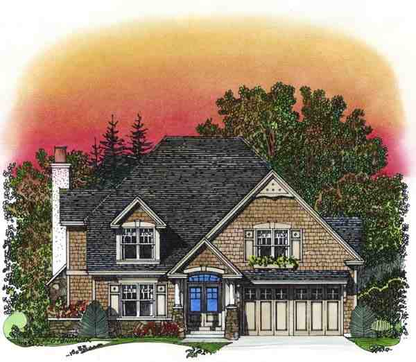 Traditional House Plan 86042 with 3 Beds, 3 Baths, 2 Car Garage Elevation