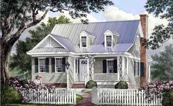 Cape Cod, Cottage, Country, Southern House Plan 86106 with 4 Beds, 4 Baths Elevation