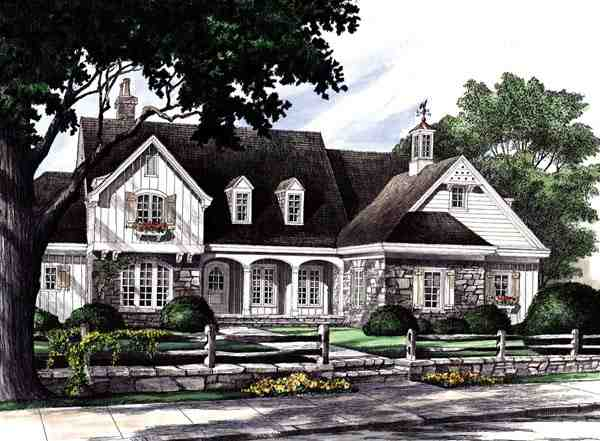 Country, Craftsman, Southern House Plan 86201 with 4 Beds, 5 Baths, 2 Car Garage Elevation