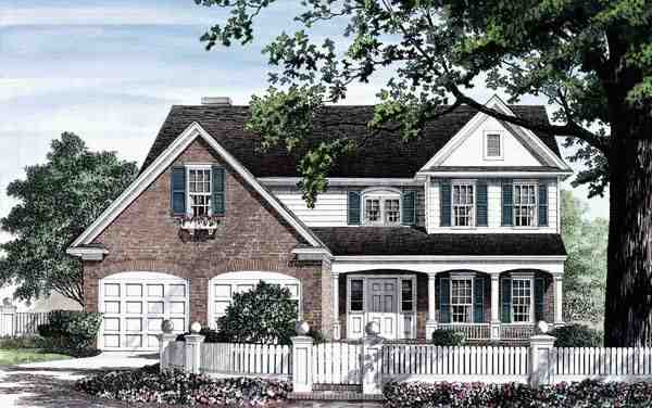 Country, Traditional House Plan 86251 with 3 Beds, 3 Baths, 2 Car Garage Elevation
