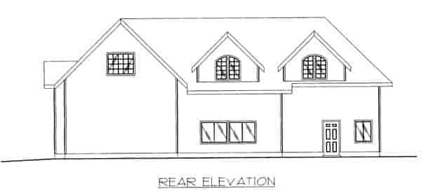 3 Car Garage Plan 86869, RV Storage Rear Elevation