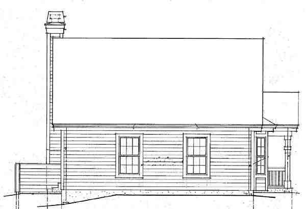 Country House Plan 87390 with 2 Beds, 2 Baths Rear Elevation