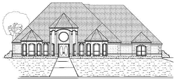 European House Plan 87933 with 4 Beds, 4 Baths, 3 Car Garage Elevation