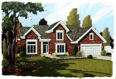 Traditional House Plan 92609 with 3 Beds, 3 Baths, 2 Car Garage Elevation