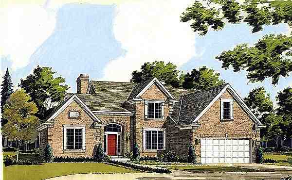 Traditional House Plan 92643 with 3 Beds, 3 Baths, 2 Car Garage Elevation