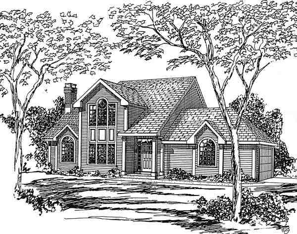 Contemporary, Country, Traditional House Plan 94016 with 3 Beds, 3 Baths, 2 Car Garage Elevation