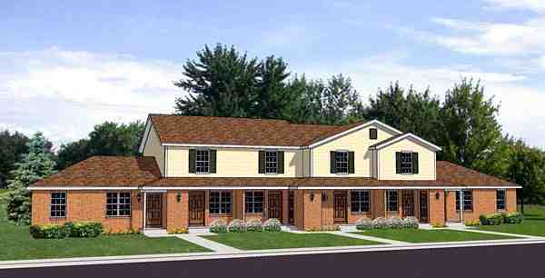 Traditional Multi-Family Plan 94484 with 10 Beds, 6 Baths Elevation