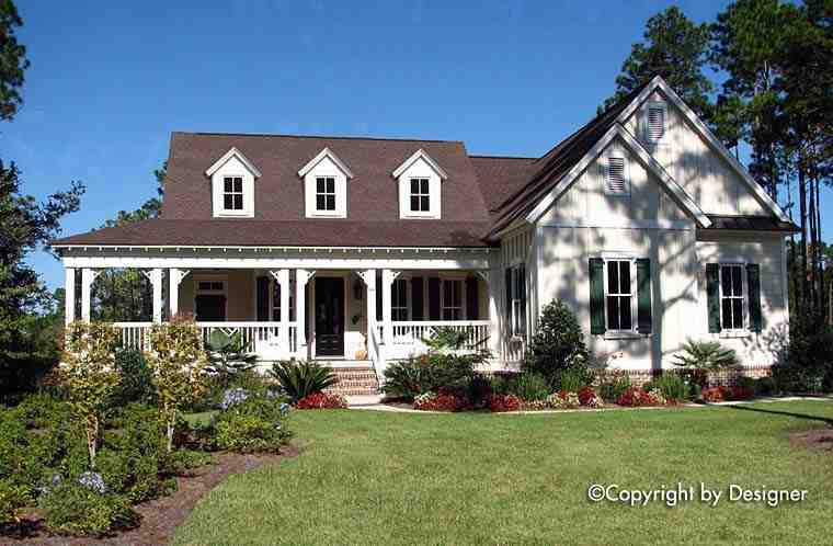 Country, Southern, Traditional House Plan 97606 with 3 Beds, 3 Baths, 2 Car Garage Elevation
