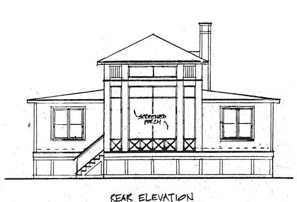 Bungalow, Craftsman, Prairie House Plan 19311 with 4 Beds, 4 Baths Rear Elevation