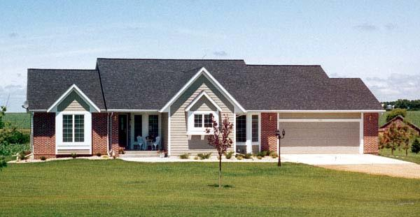 One-Story, Ranch, Traditional House Plan 20099 with 3 Beds, 3 Baths, 2 Car Garage Elevation