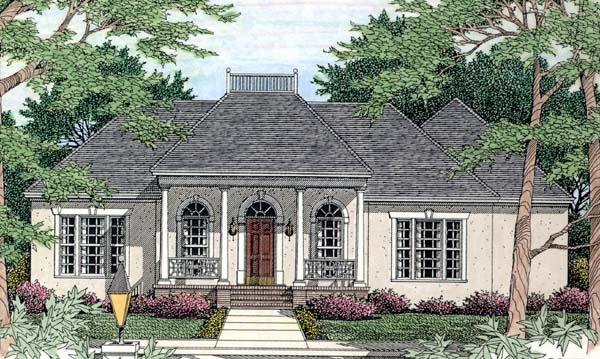House Plan 40027 with 3 Beds, 2 Baths, 2 Car Garage Elevation