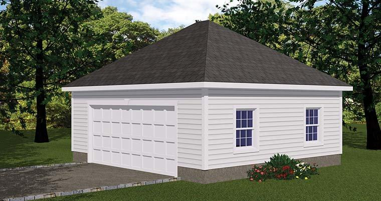 1 Car Garage Plan 40656 Elevation