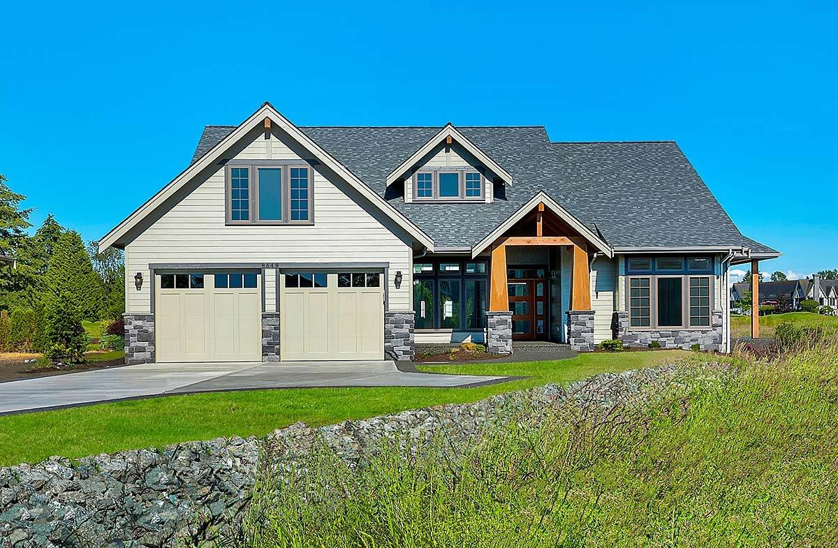 Country, Craftsman, Farmhouse House Plan 40922 with 3 Beds, 3 Baths, 2 Car Garage Elevation