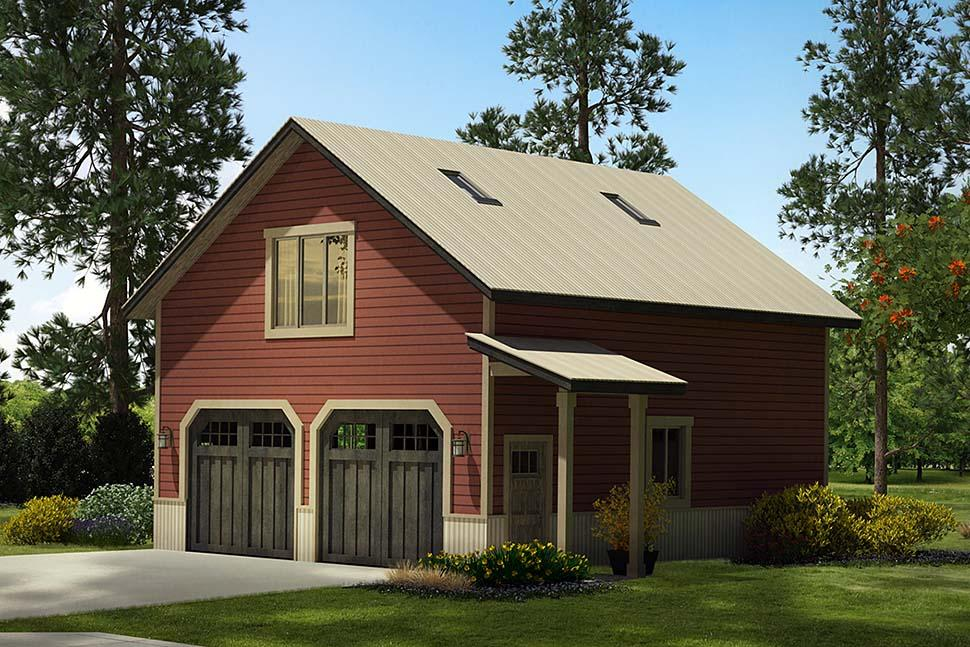 Country 2 Car Garage Apartment Plan 41294 Elevation