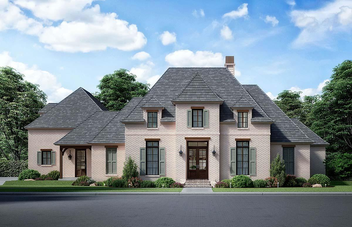 European, French Country House Plan 41414 with 4 Beds, 4 Baths, 3 Car Garage Elevation