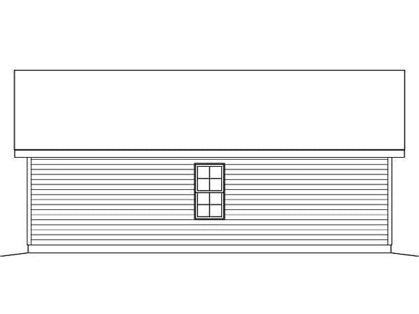 2 Car Garage Plan 45124 Rear Elevation