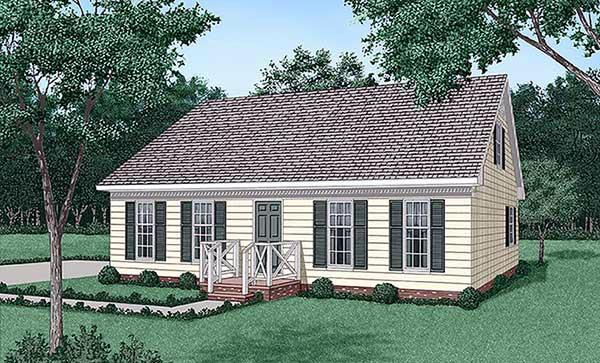 Ranch House Plan 45417 with 4 Beds, 2 Baths Elevation