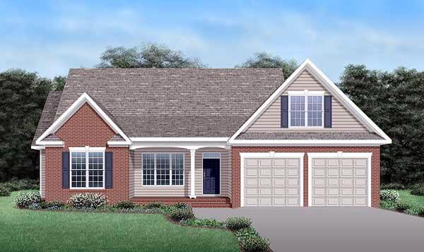 House Plan 45511 with 3 Beds, 3 Baths, 2 Car Garage Elevation