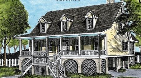 Cape Cod, Coastal, Country House Plan 45652 with 3 Beds, 4 Baths Elevation