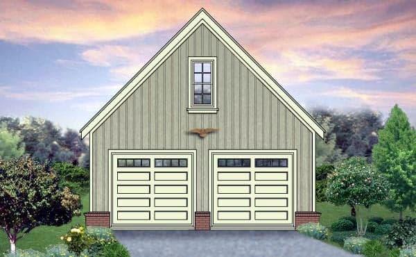 2 Car Garage Plan 45789 Elevation