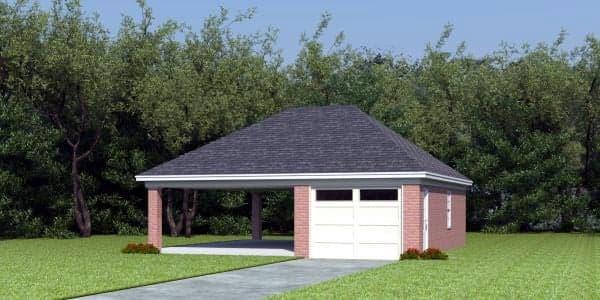 2 Car Garage Plan 45792 Elevation