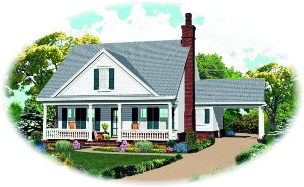 Traditional House Plan 47382 with 3 Beds, 3 Baths Elevation