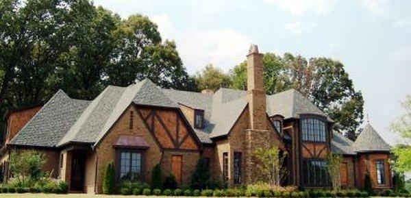 Country, European, Tudor House Plan 48760 with 4 Beds, 4 Baths, 3 Car Garage Elevation