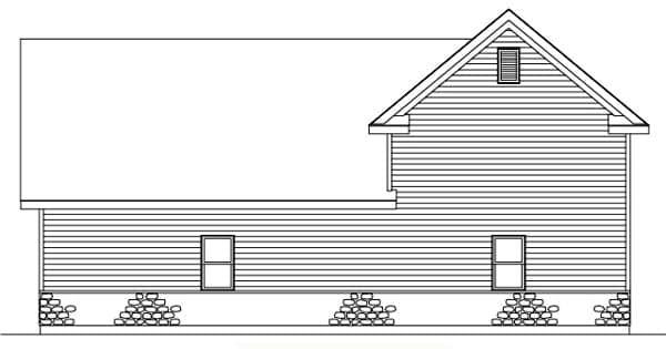 Traditional 3 Car Garage Plan 49030, RV Storage Rear Elevation