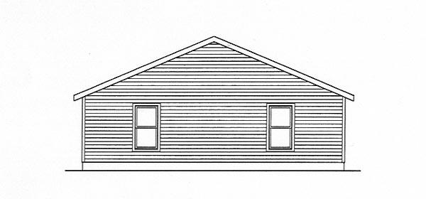 Country, Narrow Lot, One-Story Multi-Family Plan 49150 with 2 Beds, 2 Baths Rear Elevation