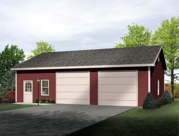 2 Car Garage Plan 49185 Elevation