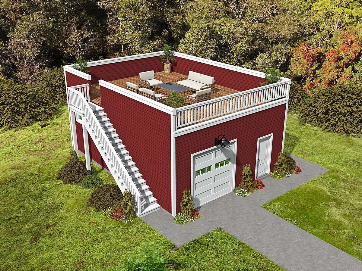 Cape Cod, Coastal, Saltbox 2 Car Garage Plan 52142 Elevation