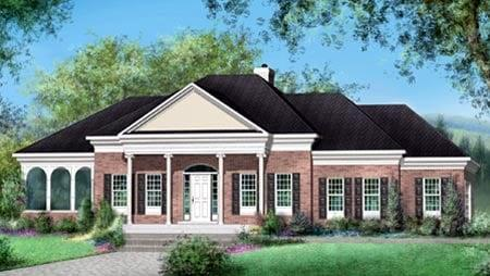 House Plan 52481 with 2 Beds, 3 Baths, 2 Car Garage Elevation