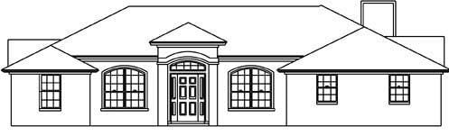 House Plan 53223 with 3 Beds, 2 Baths, 2 Car Garage Elevation