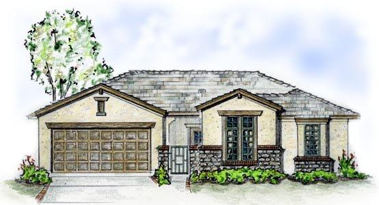 Florida, Traditional House Plan 56511 with 3 Beds, 2 Baths, 2 Car Garage Elevation