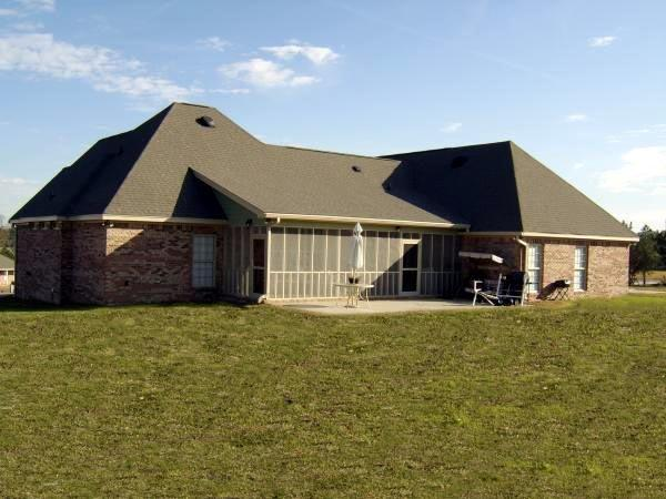 Country, European, Traditional House Plan 59215 with 4 Beds, 3 Baths, 2 Car Garage Rear Elevation