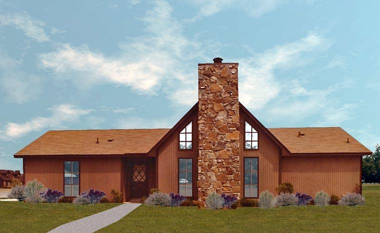 House Plan 60634 with 3 Beds, 2 Baths Elevation