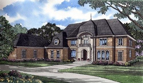 Colonial, Contemporary, Southern House Plan 61050 with 4 Beds, 6 Baths, 3 Car Garage Elevation