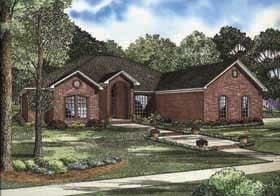 European, Traditional House Plan 62160 with 4 Beds, 2 Baths, 3 Car Garage Elevation