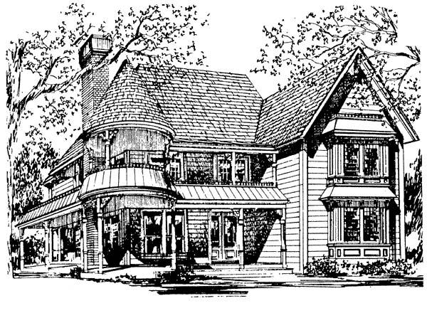 Victorian House Plan 62409 with 3 Beds, 3 Baths Elevation