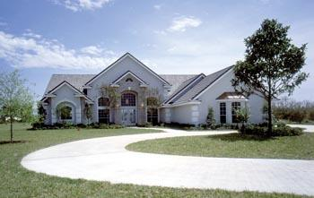 Florida, Mediterranean, One-Story, Traditional House Plan 63337 with 4 Beds, 3 Baths, 3 Car Garage Elevation