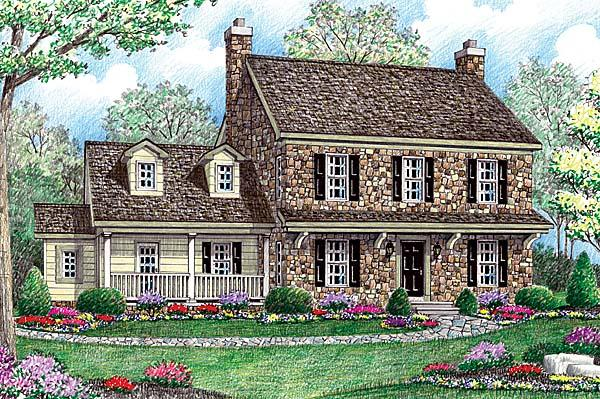 Farmhouse House Plan 64403 with 4 Beds, 3 Baths, 2 Car Garage Elevation