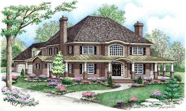 Contemporary, Farmhouse House Plan 64415 with 4 Beds, 3 Baths, 2 Car Garage Elevation