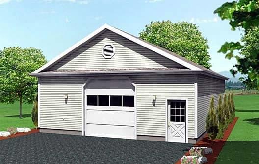 6 Car Garage Plan 67294 Elevation