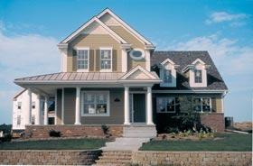 Country, Farmhouse House Plan 68188 with 3 Beds, 3 Baths, 2 Car Garage Elevation